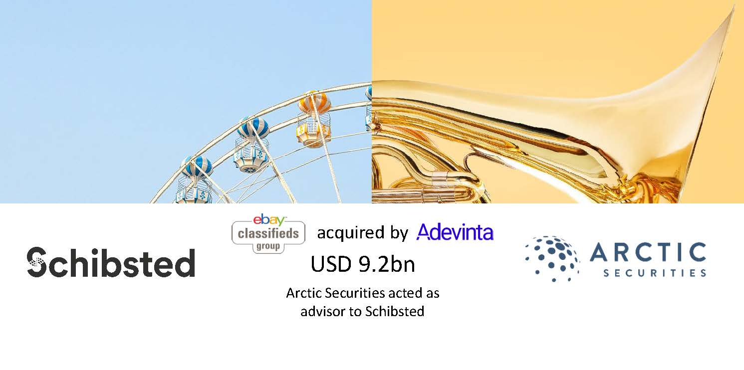 Schibsted - USD 9.2bn - Adevinta's acquisition of eBay Classifieds Group