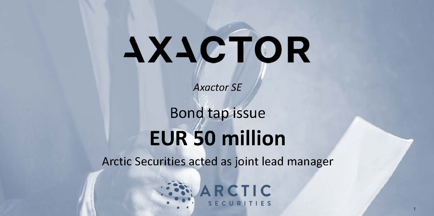 Axactor SE - EUR 50 million - Bond tap issue