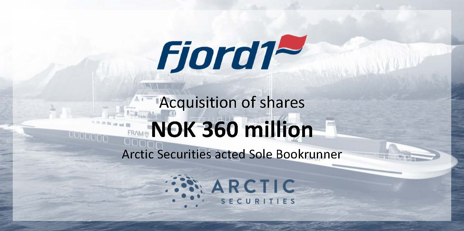 Fjord1 - NOK 360 million - Acquisition of shares