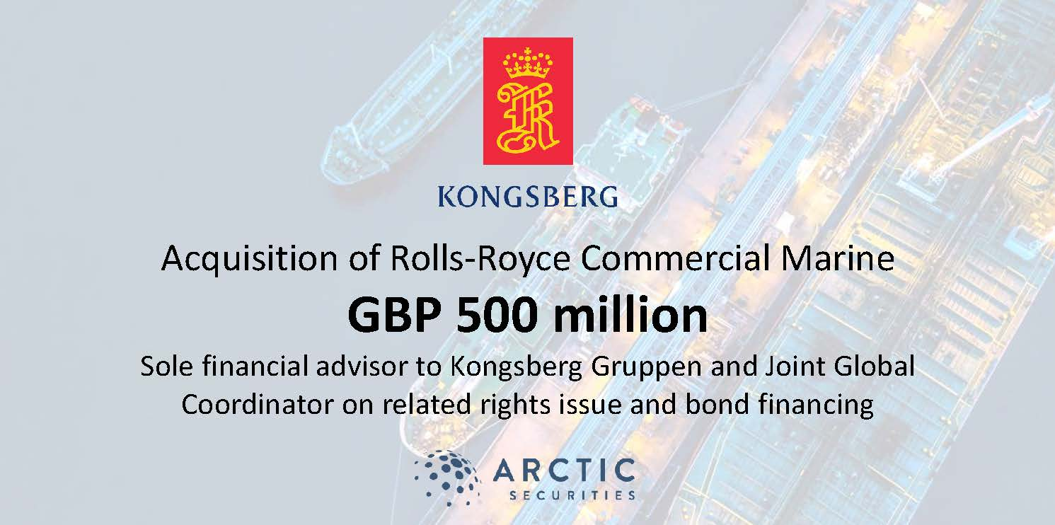 Kongsberg Gruppen - Rights Issue and Bond Financing - GBP 500 million