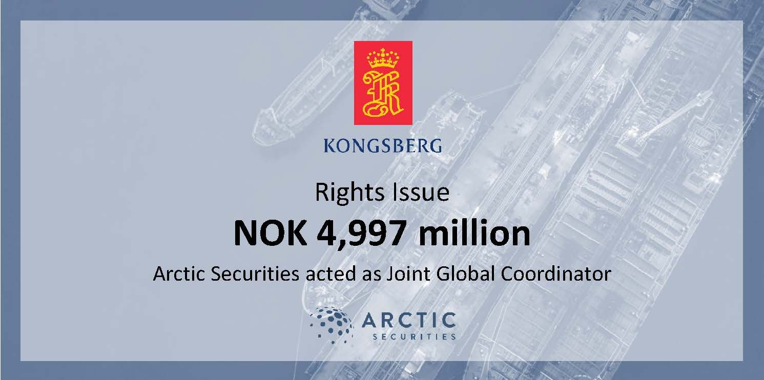 Kongsberg Gruppen - Rights Issue - NOK 4,997 million