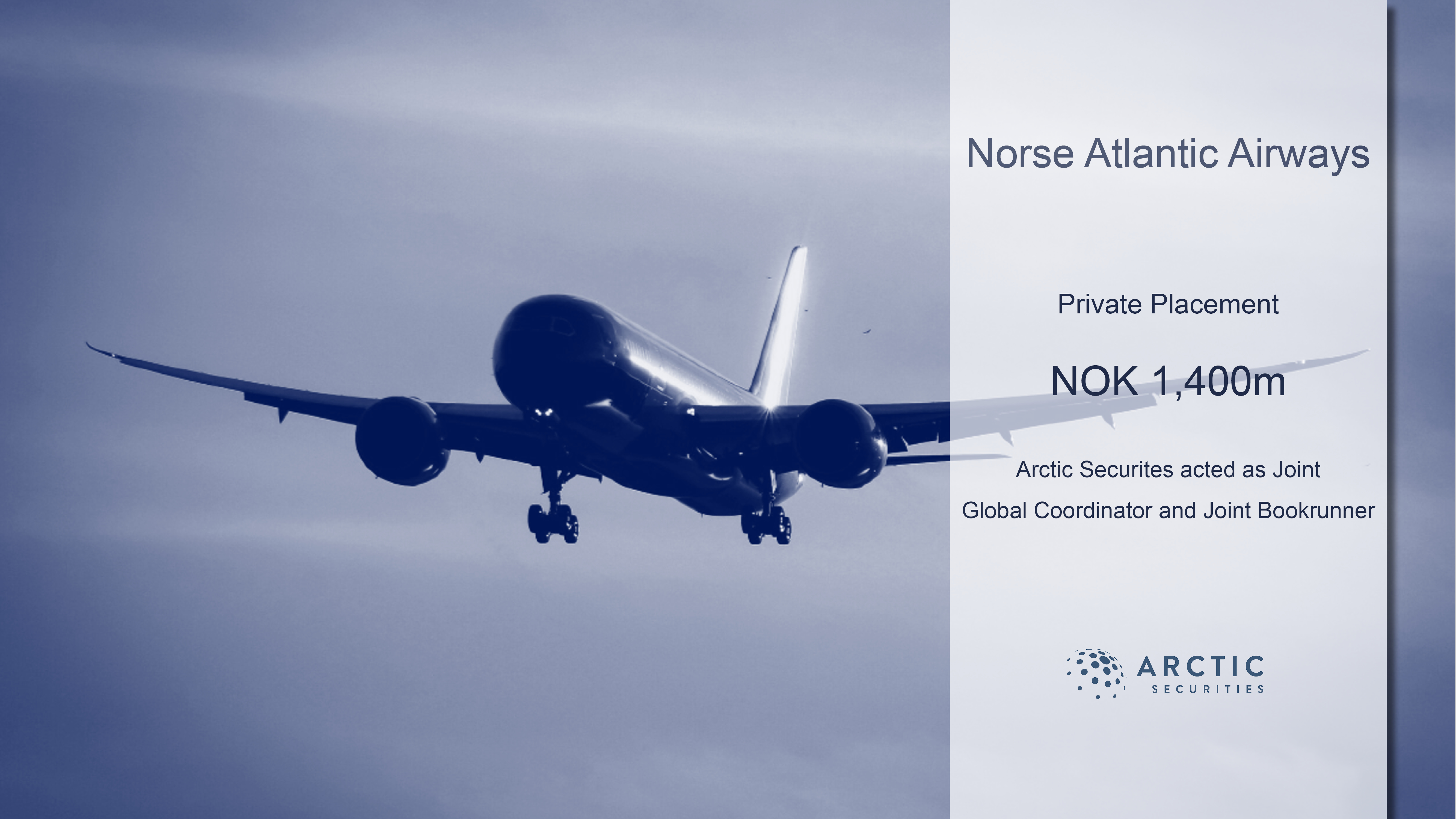 Norse Atlantic ASA – Private Placement of NOK 1,400 million and Euronext Growth Oslo listing