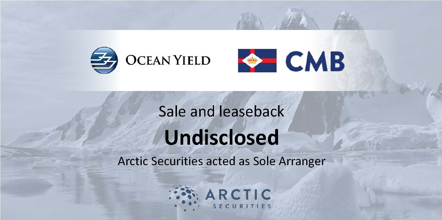Ocean Yield ASA - Sales and leaseback - Undisclosed