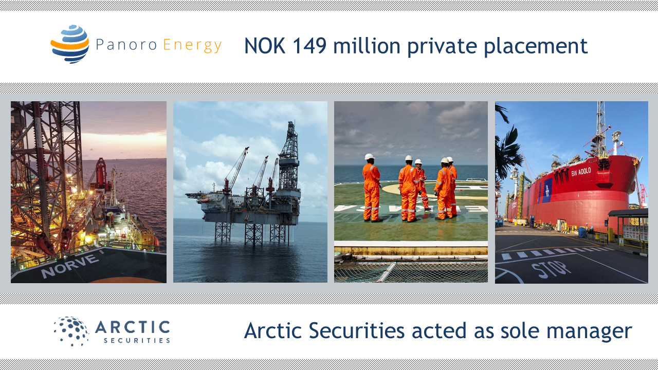 Panoro Energy - NOK 149 million - Private Placement