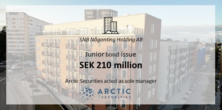 Junior bond issue for SNB Någonting Holding AB