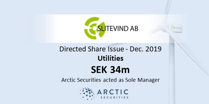 Slitevind AB - SEK 34M - Directed Share Issue